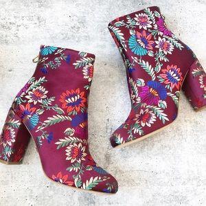 New Joie Saleema Brocade Floral Booties